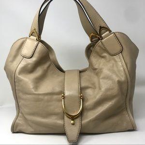 Gucci Beige Stirrup Hardware Soft Tote Bag